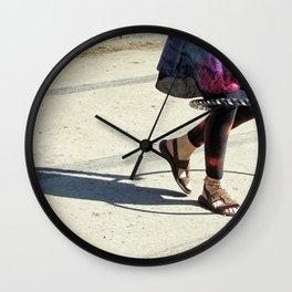 Dancing (Hula Hoop Series) Wall Clock