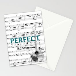 Perfect- Pop music Stationery Cards