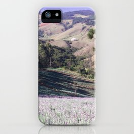 Lavenders and mountains iPhone Case