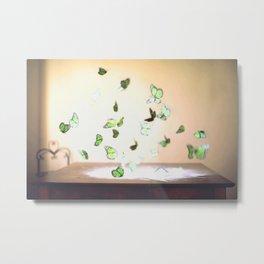Butterfly Case Metal Print