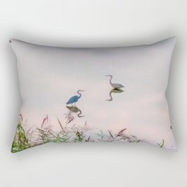 The Lake at Dusk Rectangular Pillow