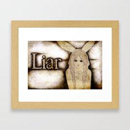 Liar Framed Art Print