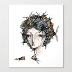The moth girl Canvas Print