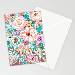 SMELLS LIKE COFFEE BY THE OCEAN Floral Stationery Cards