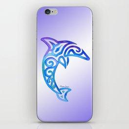 Tribal Dolphin iPhone Skin