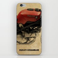 ducati iPhone & iPod Skins featuring Ducati Scrambler by Larsson Stevensem
