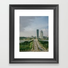 two roads that didn't diverge Framed Art Print