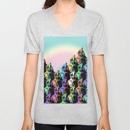 Contra Mundum Rainbow Magpies! Unisex V-Neck