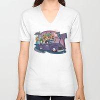 van V-neck T-shirts featuring Van by manuvila