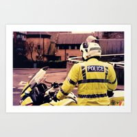 police Art Prints featuring Police by Julian Bailey