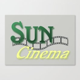 Sun Cinema Canvas Print