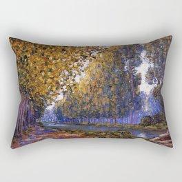 Paris, Moret Canal Autumn Foliage, French landscape by Francis Picabia Rectangular Pillow