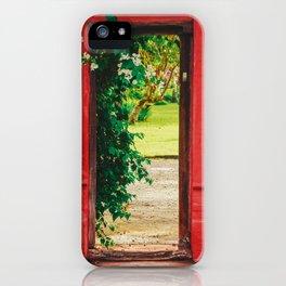 Secret garden doors iPhone Case