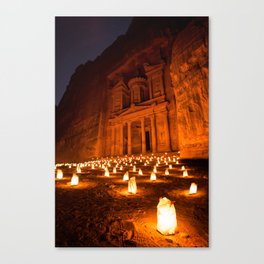 Petra by Night Canvas Print