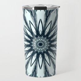 Black and White w/Teal Accent Mandala Travel Mug