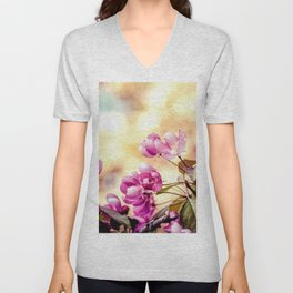 Paradise Apple Blossoms Unisex V-Neck