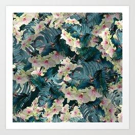 Jungle orchids Art Print