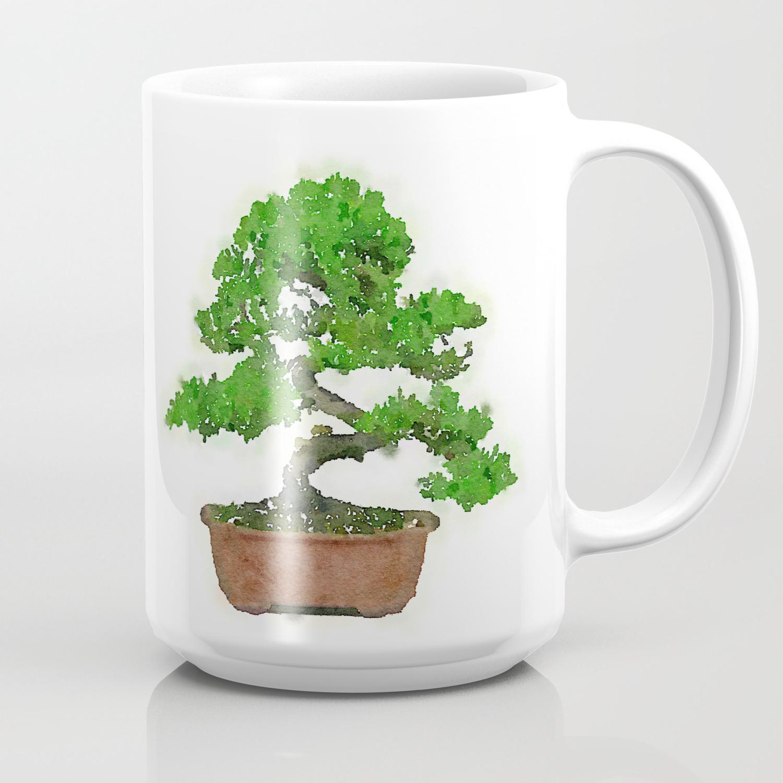 Japanese Bonsai Tree Coffee Mug By Mozayix Society6