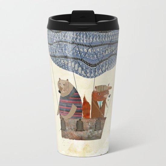 mr fox and bears wondrous adventure Metal Travel Mug