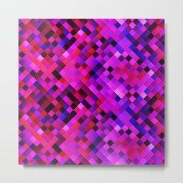 Purple Red Lilac Bright Squares Metal Print