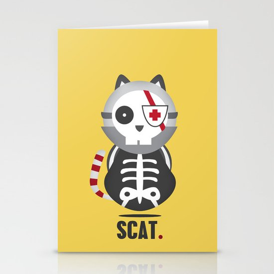 Scat Stationery Cards