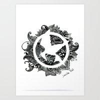 mockingjay Art Prints featuring Mockingjay by Sketches D.