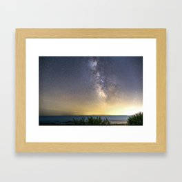 Milkyway Landscape Framed Art Print