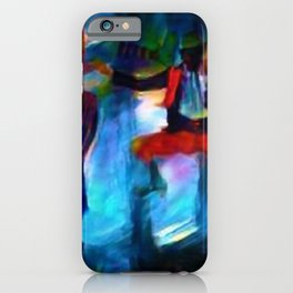 Harlem Renaissance 70's Poppin' and Lockin' African American Dance Portrait iPhone Case