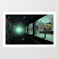 subway Art Prints featuring Subway by Jean Walter