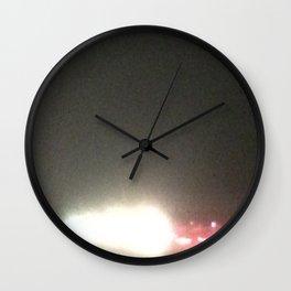 Abstracte Light Art in the Dark 5 Wall Clock