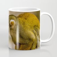 monkey island Mugs featuring Little Monkey by Glory Baby Photography