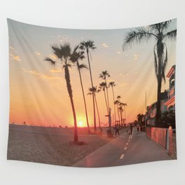 Newport Beach Sunset - Landscape Photography  Wall Tapestry