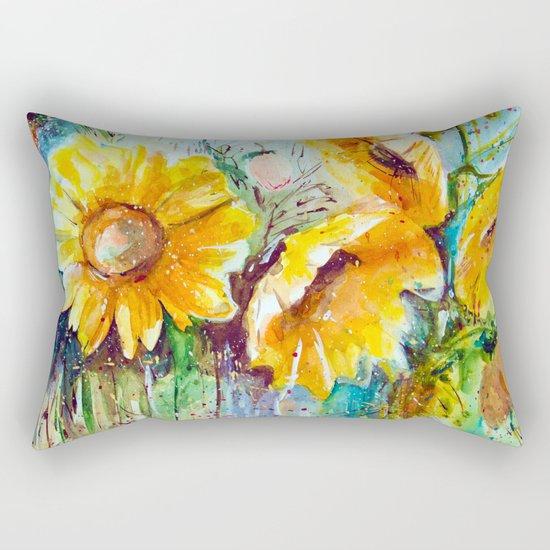 bouquet of sunflowers Rectangular Pillow