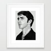 lee pace Framed Art Prints featuring Lee by Katie Arts