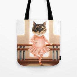 Ballerina Cat Tote Bag