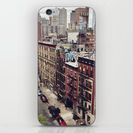 New York street views - Chinatown from Manhattan bridge iPhone Skin