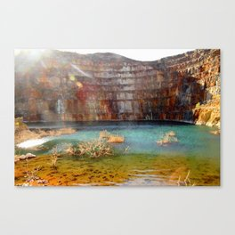 Abandoned Uranium Mine Canvas Print