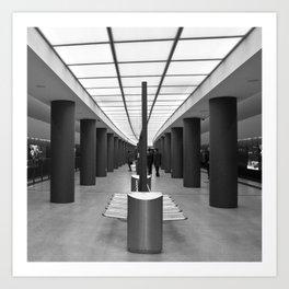 Tube Station Brandenburg Gate in Berlin Art Print