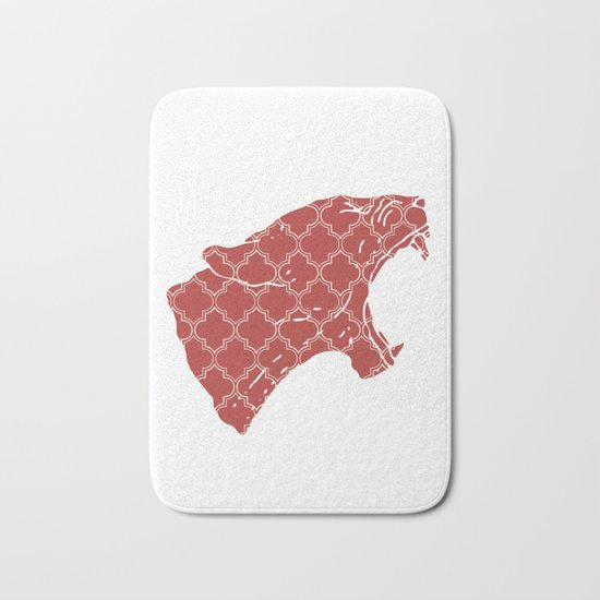 PANTHER SILHOUETTE HEAD WITH PATTERN Bath Mat