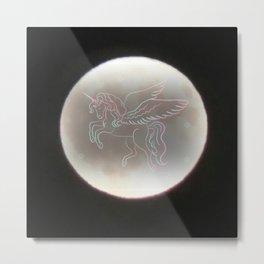 Pegacorn Moon Metal Print