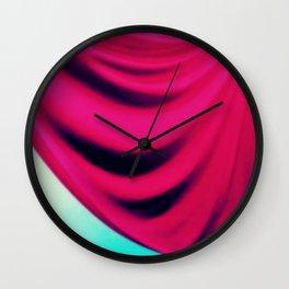 Fuchsia Aqua Drape Wall Clock
