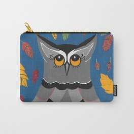 Perched Autumn Owl Carry-All Pouch