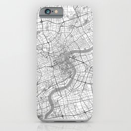 Shanghai Map Line iPhone Case