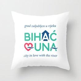 BIHAC LOVES UNA Throw Pillow