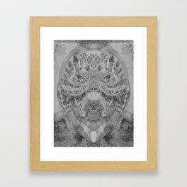 tribal negative Framed Art Print