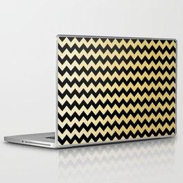 Gold Glitter Chevron Laptop & iPad Skin