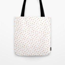 Sweet Peach Polka Dot, White Tote Bag