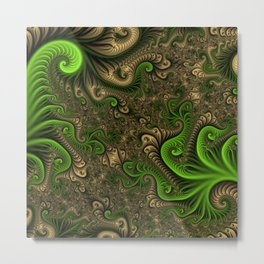 Fantasy World II, Abstract Fractal Art Metal Print