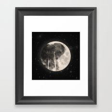The Elephant in The Moon Framed Art Print
