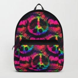 Hot Pink Peace Tie Dye Backpack
